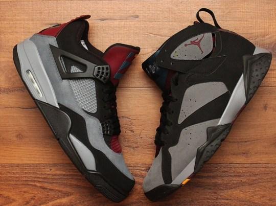 """Air Jordan 4 """"Bordeaux"""" by Dank Customs"""