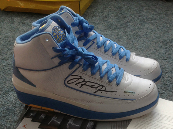 "Air Jordan 2 ""Melo"" – Michael Jordan Autographed Pair on eBay"