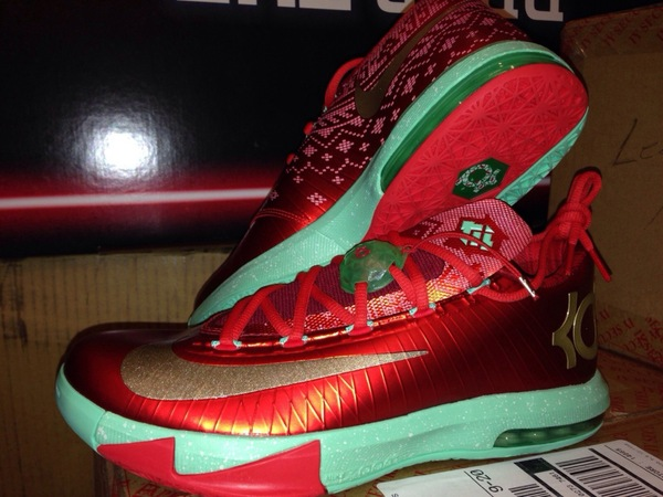 info for e6d98 55fab ... best price nike kd vi christmas color light crimson metallic gold green  glow style code 599424