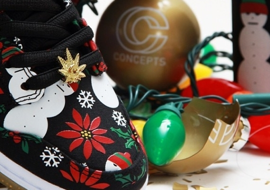 "hot sale online db1e9 948fa ... sneakerfits  CNCPTS x Nike SB Dunk High ""Ugly Christmas Sweater"" Black ."