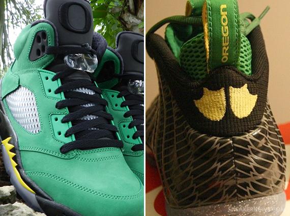 Air Jordan 5 + Nike Air Foamposite One