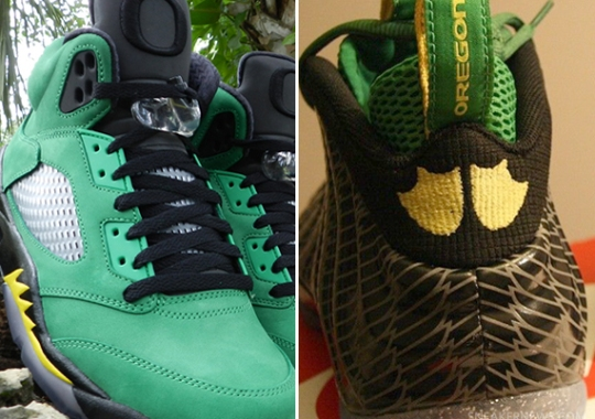 "Air Jordan 5 + Nike Air Foamposite One ""Oregon Ducks"" to Release?"