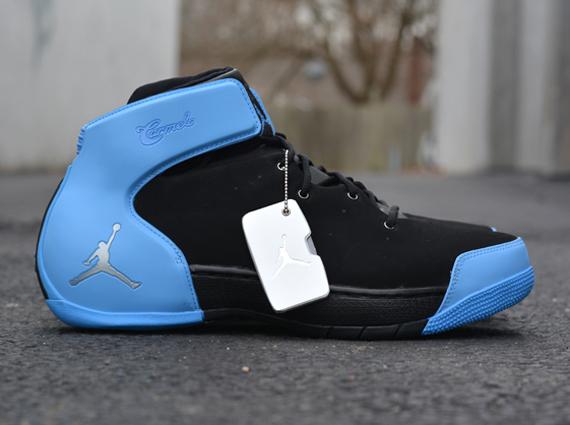 6698df130b60 chic Jordan Melo 1.5 Black Metallic Silver University Blue ...