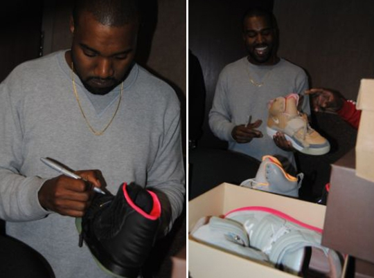 Kanye West Autographs DJ Greg Street's Air Yeezy Collection & More