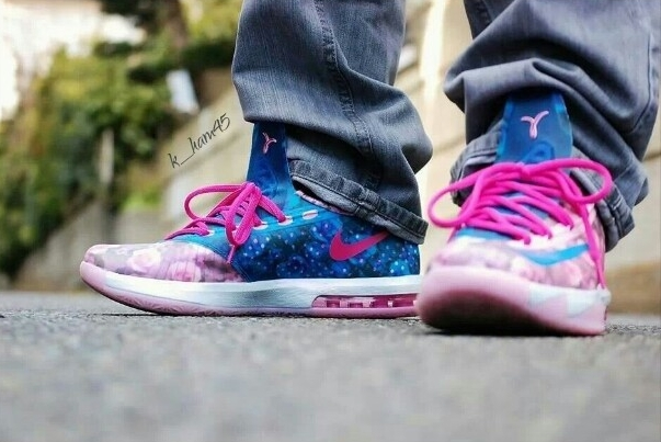 """Nike KD 6 """"Aunt Pearl"""" - On-Feet Images - SneakerNews.com"""