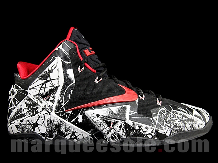 "87c08011ecc00 Nike LeBron 11 ""Graffiti"" Color  White University Red-Black Style Code   616175-100. Release Date  01 25 14. Price   200"