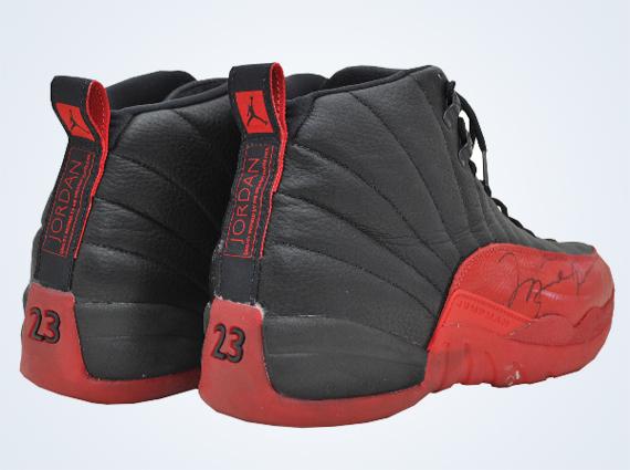 """the best attitude f7196 af72c Michael Jordan s Original Air Jordan 12 """"Flu Game"""" Sells for  104,765"""
