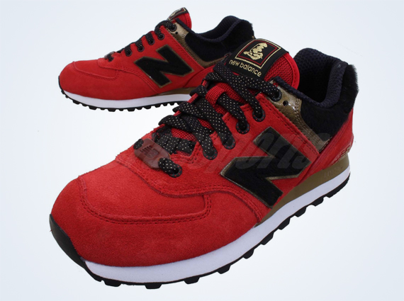 all red 574 new balance