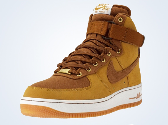 huge selection of cf171 c6743 lovely Nike Air Force 1 High Shale Light British Tan Gum Medium Brown