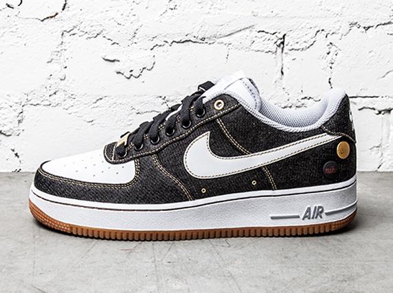 "brand new f0538 c8e82 Nike Air Force 1 Low  07 ""Black Denim"""