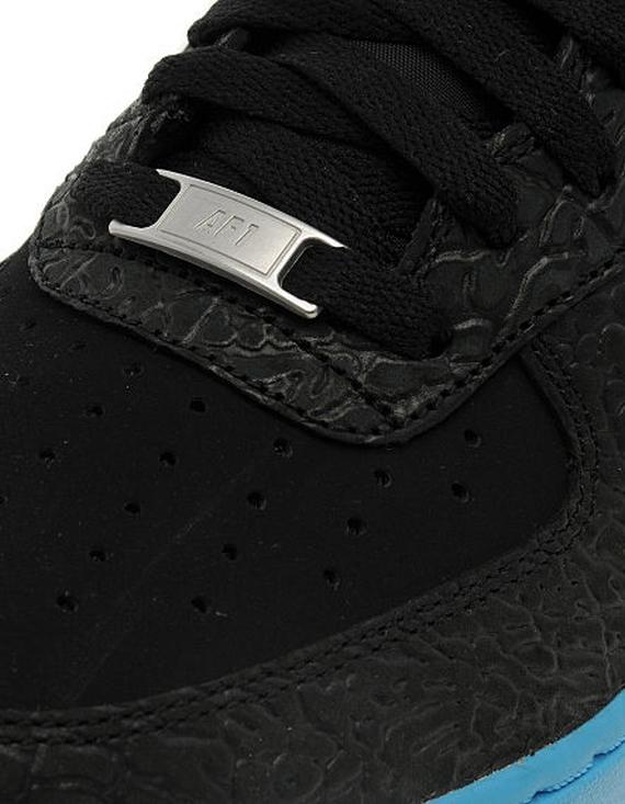 sports shoes c20cb 2eb2b Nike Air Force 1 Low – Black Elephant Print – Vivid Blue