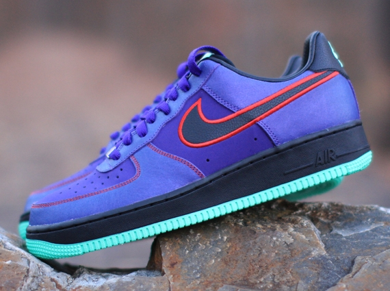 Nike Air Force 1 Low Court Purple Black University Red