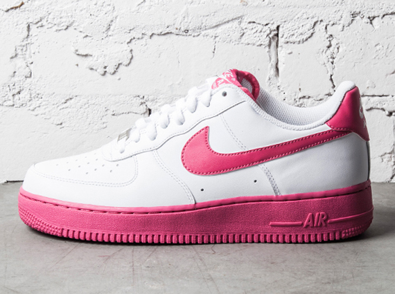 Pink White Womens Air Force 1 Sneakers