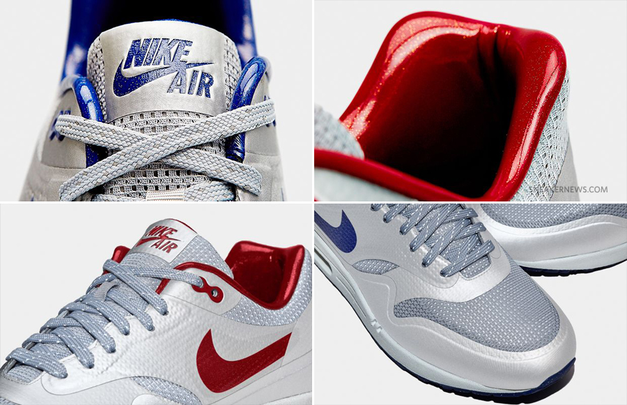 best website 4ac74 61ed5 Nike Air Max 1 Hyperfuse QS Color  Metallic Silver Deep Royal-Sail Style  Code  633087-004. Release Date  12 28 13. Price   110