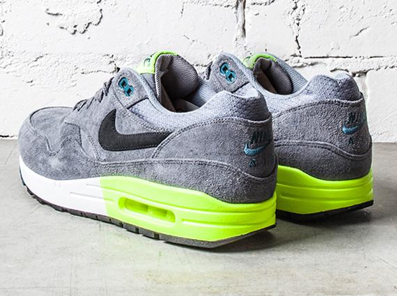 Nike Air Max 1 Premium - Gris - Voltios - Verde