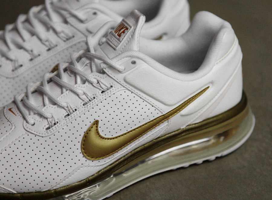 Nike Air Max 2013 Leather QS – White – Gold