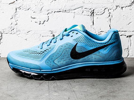 Nike Wmns Air Max 2014 Midnight Navy Peach Pink Blue