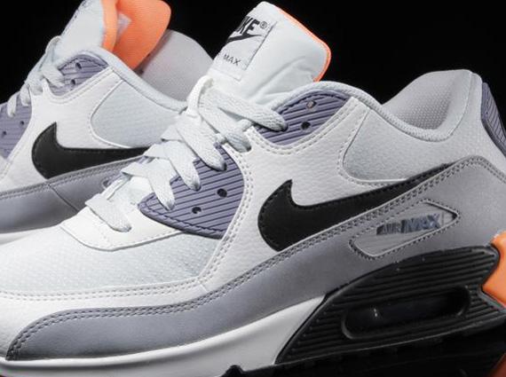 621bafcf851b Nike Air Max 90 Essential – Light Base Grey – Iron Purple – Atomic Orange