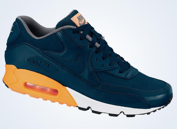 Nike Air Max 90 Premium Blå Oransje wpclgJ47W