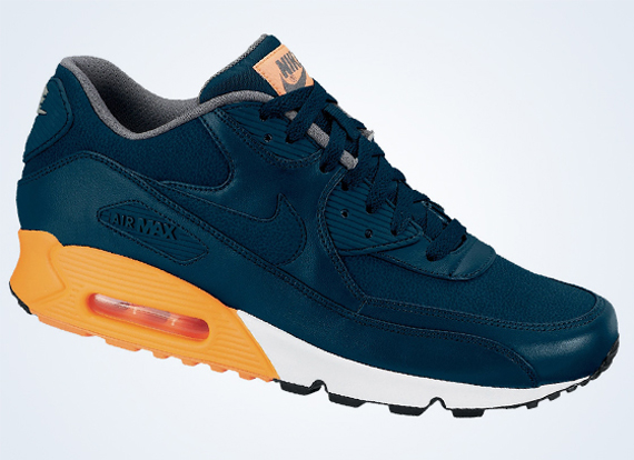 nike air max 90 orange and blue