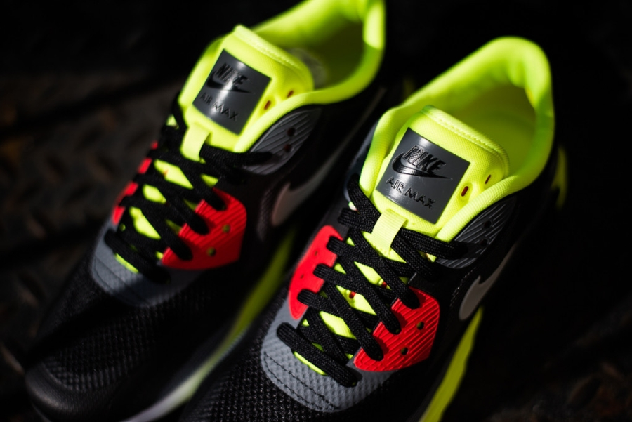 Nike Air Max Lunar90 Blanco / Negro / Antracita / Voltio Hf795iIzF