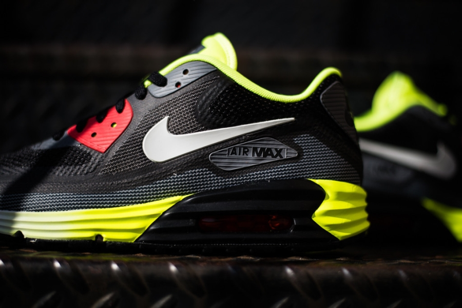 nike air max 90 lunar 3.0 white/black/anthracite/volt