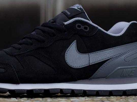 Nike Air Waffle Trainer Leather – Black – Grey – White