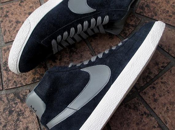 newest 8e65b ab209 Nike Blazer Mid PRM VNTG Suede - Black - Grey - SneakerNews.com