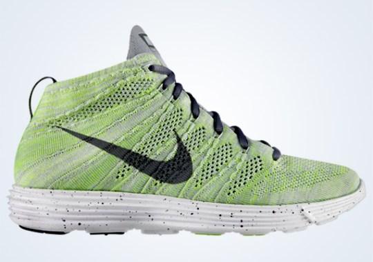 Nike Lunar Flyknit Chukka – Wolf Grey – Cool Grey – Electric Green