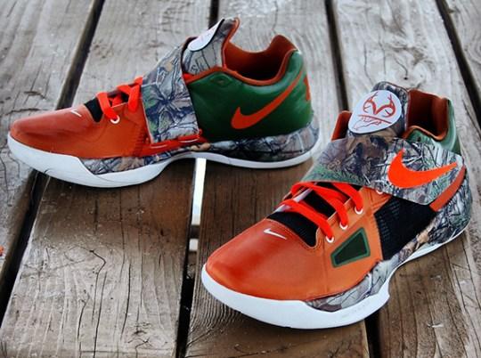 "Nike Zoom KD 4 ""Real Tree Camo"" Customs by Gourmet Kickz"