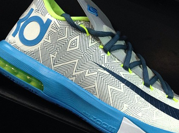 Nike Zoom KD 6 White Grey Green Red Blue