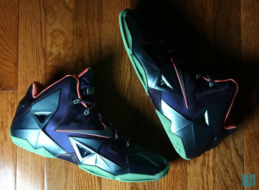 Nike LeBron 11 Miami vs Akron