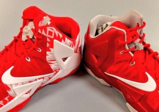 """Nike LeBron 11 """"Ohio State Buckeyes"""" PEs"""