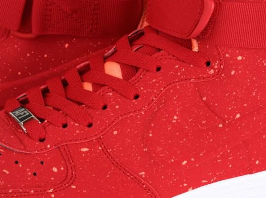 """Nike Lunar Force 1 High """"Speckle"""" – University Red – Orange"""
