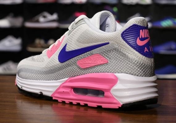cfa470e60eba Nike WMNS Air Max Lunar90 C3.0 - White - Concord - Pink Glow -  SneakerNews.com