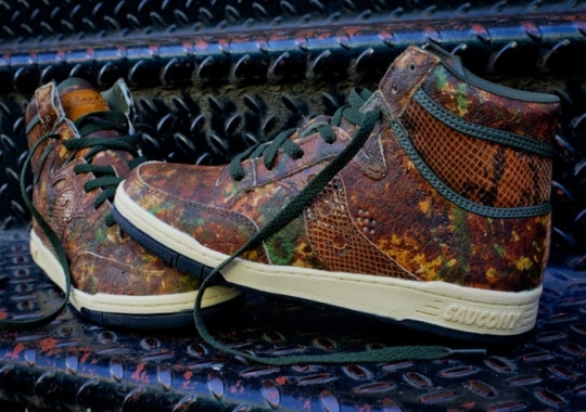 "Packer Shoes x Saucony Hangtime Hi ""Woodland Snake"" – Arriving at Additional Retailers"