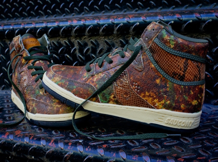 """5b047a7e1e93 Packer Shoes x Saucony Hangtime Hi """"Woodland Snake"""" – Arriving at  Additional Retailers"""