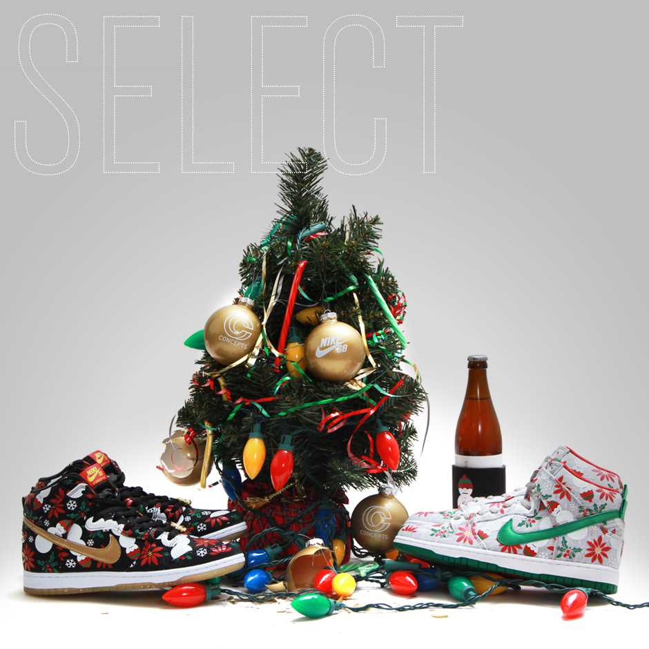 Nike SB Dunk High Ugly Christmas Sweater - SneakerNews.com