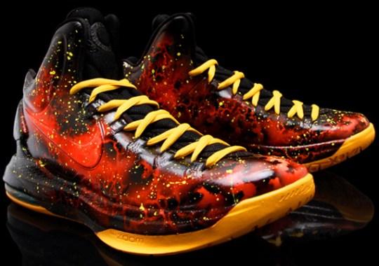 """Nike KD 5 """"Heat Advisory"""" for Sneaker Con by Kickasso Kustoms"""
