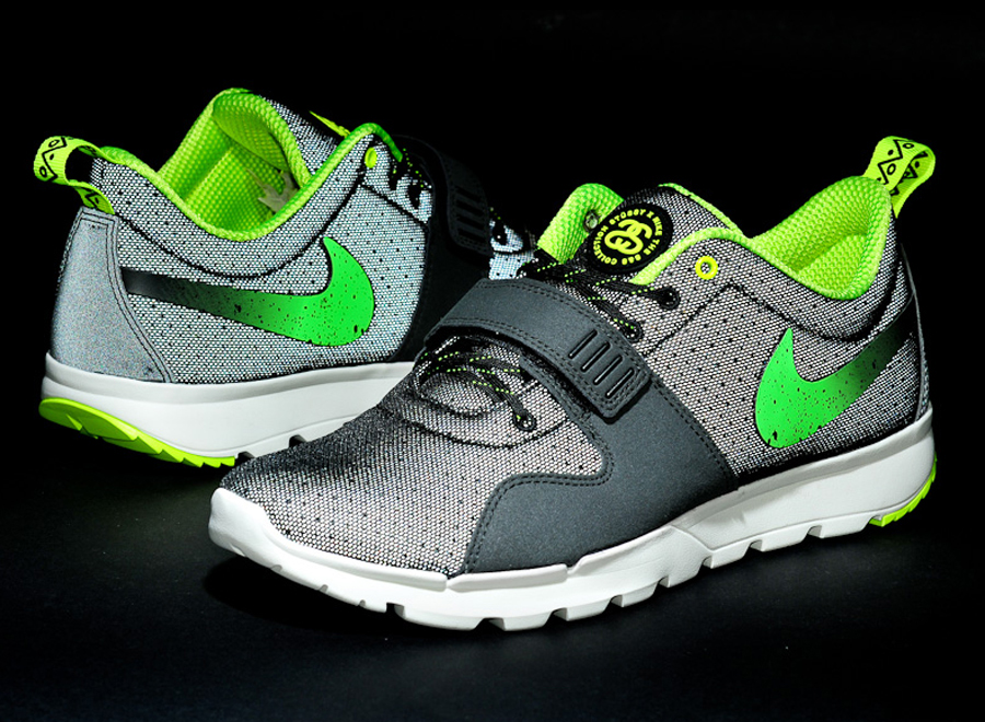 80745fb1d037 Stussy x Nike SB Trainerendor - Black - Neon - SneakerNews.com