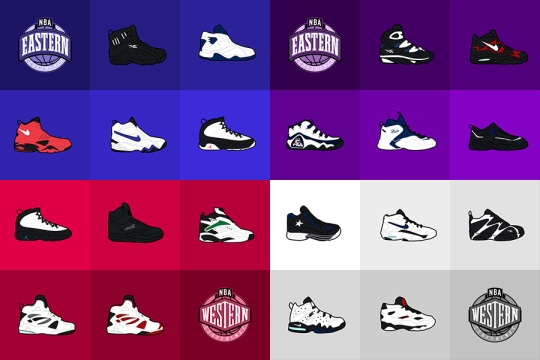 1994-95 NBA All-Star Sneaker Doodles by Commonlight