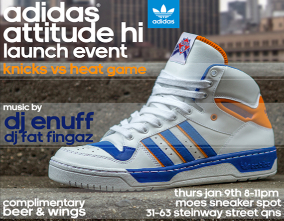 "c389521f5ee2 adidas Originals Attitude Hi ""Knicks"" Release Event   Moe s Sneaker Spot"
