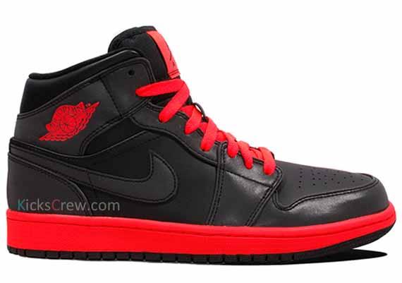 Aire Nike Jordan 1 Mediados Negro De Infrarrojos 6 sZ3MXmZ