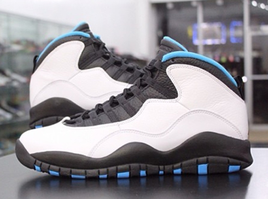 Air Jordan 10 – White – Dark Powder Blue – Black