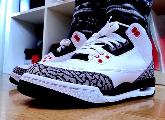 Air Jordan 3 GS – White – Cement Grey – Infrared 23 – Black