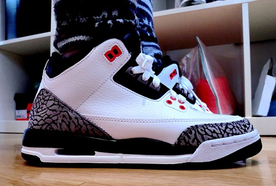 78ac6d35546 Air Jordan 3 GS - White - Cement Grey - Infrared 23 - Black - SneakerNews. com