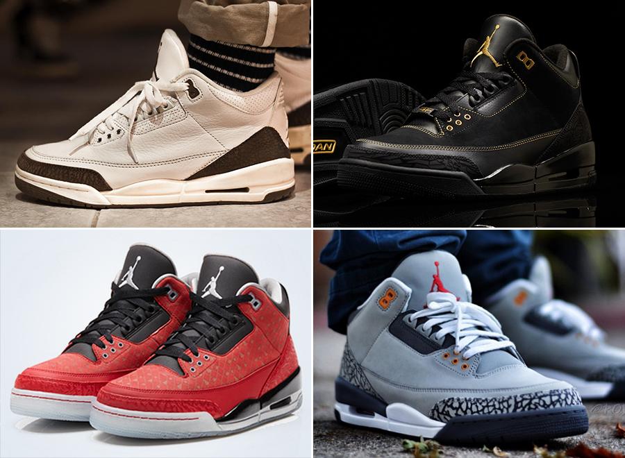 hot sale online 901c0 e28d4 A Complete Retro History of the Air Jordan 3 - SneakerNews.com