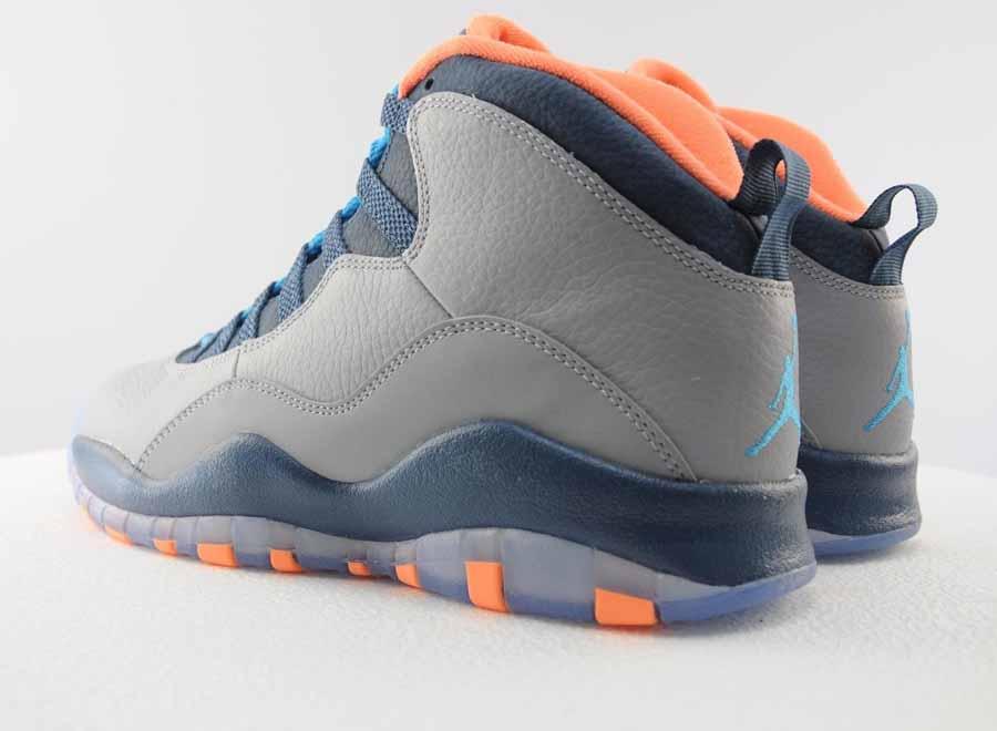 Air Jordan 10 Bleu Et Orange