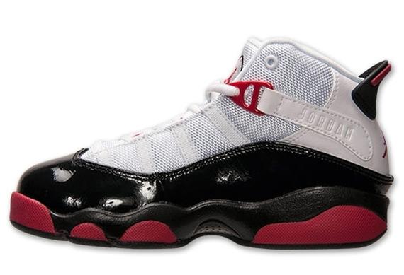 Jordan 6 Rings GS - White - Legion Red - Black - Wolf Grey ...