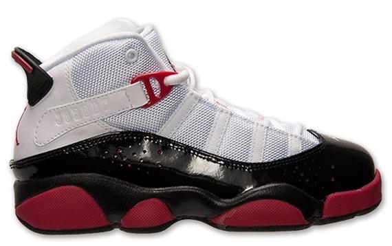 new arrival 08987 06079 Jordan 6 Rings GS - White - Legion Red - Black - Wolf Grey ...